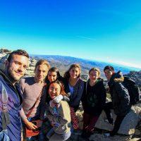 amigos de 7 países en Torcal – Rou You